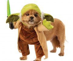 Star Wars Walking Yoda with Lightsaber Costume for Dogs